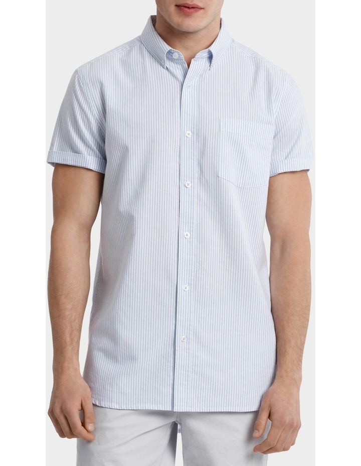 Bromolla Short Sleeve Relaxed Fit Striped Shirt image 1