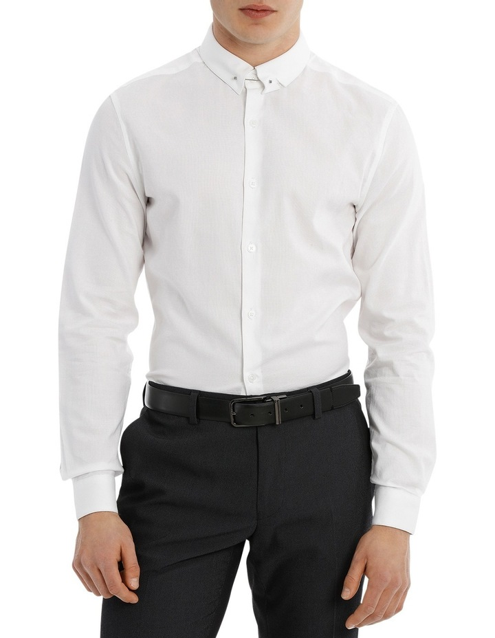 Travers Textured Collar Bar Formal Shirt image 1