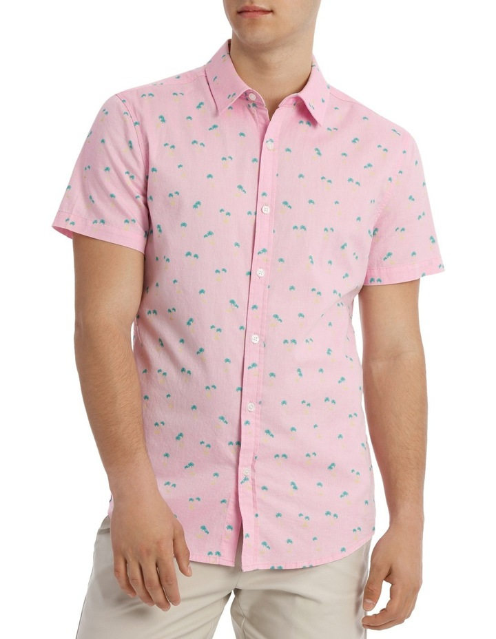 Macchio Palm Print Short Sleeve Shirt image 1