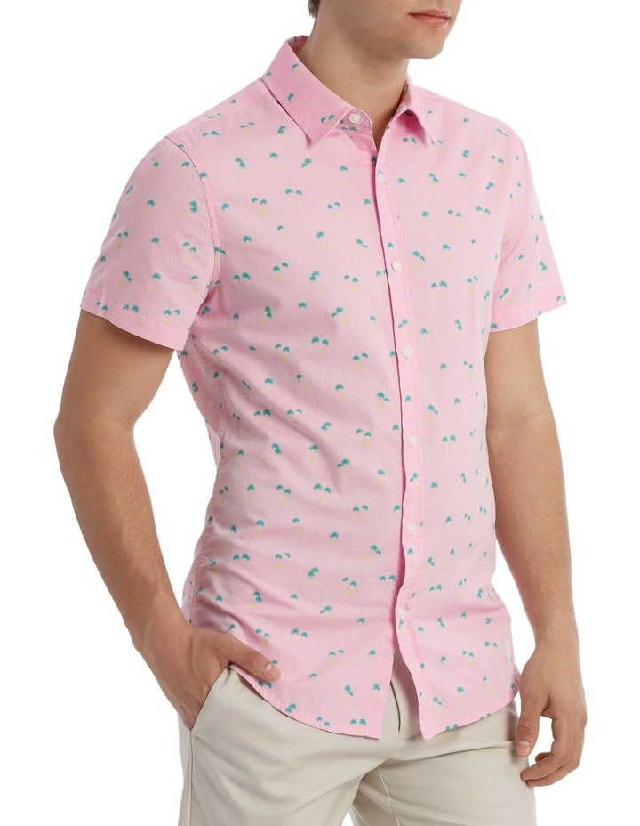 Macchio Palm Print Short Sleeve Shirt image 2