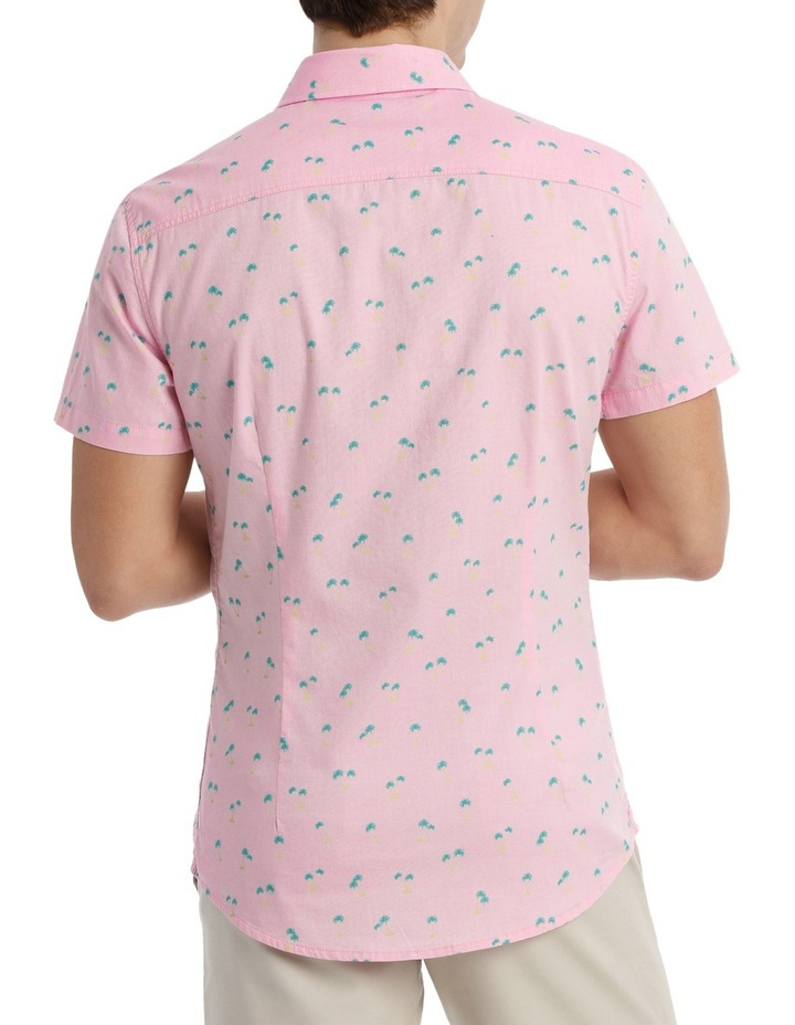 Macchio Palm Print Short Sleeve Shirt image 3