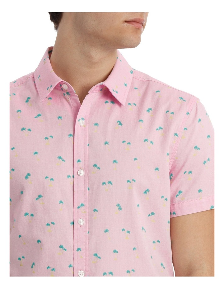 Macchio Palm Print Short Sleeve Shirt image 4