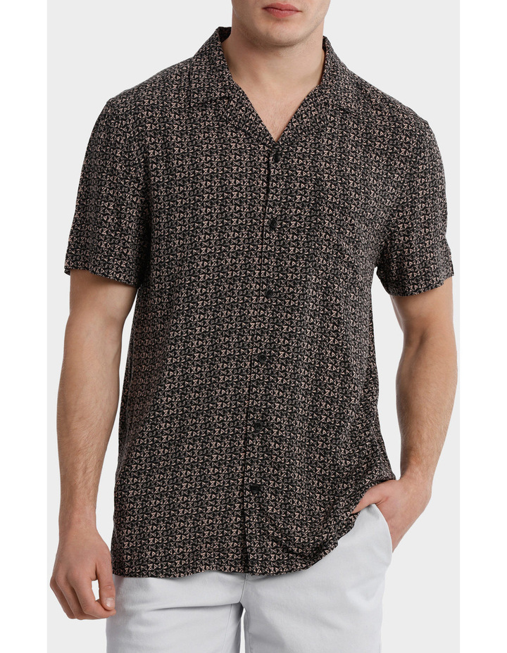 Parlour Abstract Rayon Relaxed SS Shirt image 1