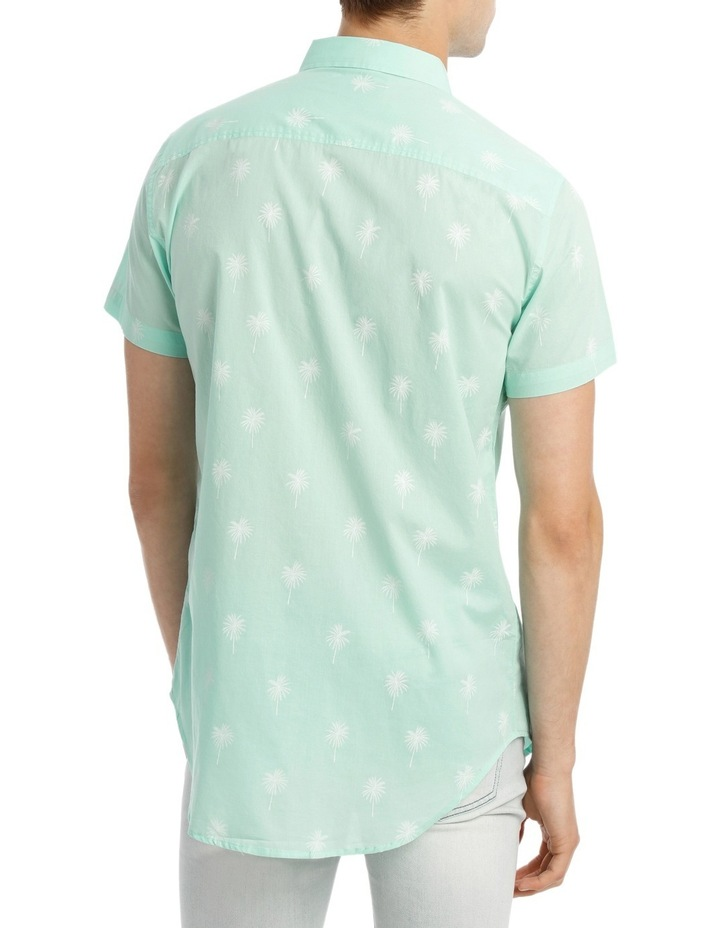 Dempsey Palm Print Short Sleeve Shirt image 3