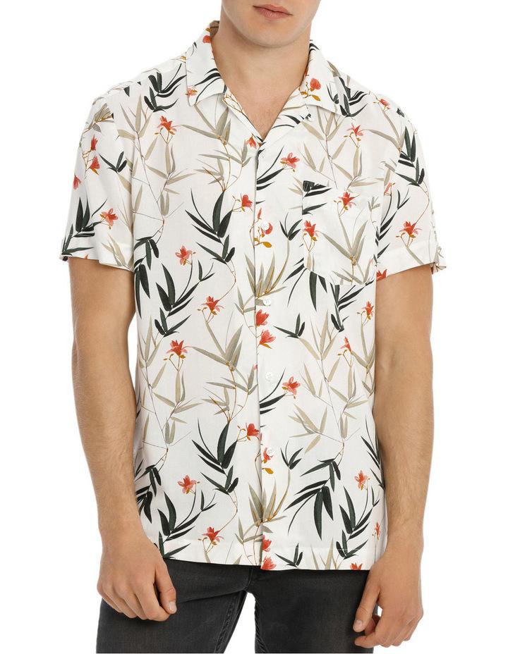 Banks Foliage Print Short Sleeve Relaxed Rayon Shirt image 1