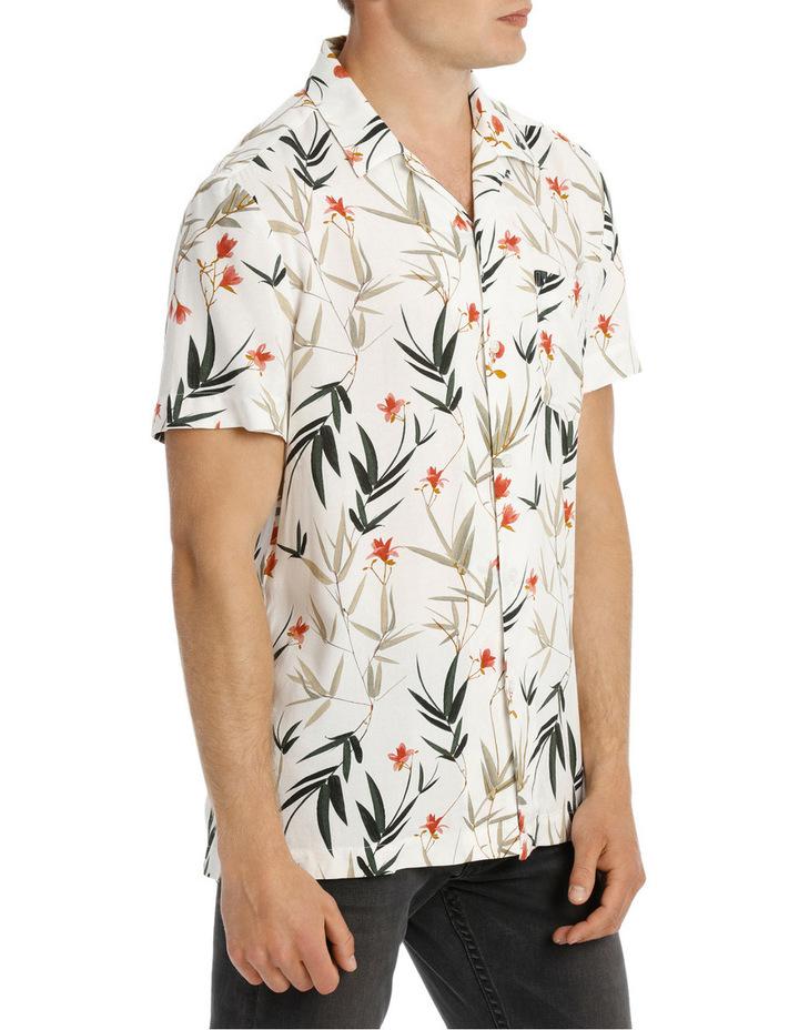 Banks Foliage Print Short Sleeve Relaxed Rayon Shirt image 2