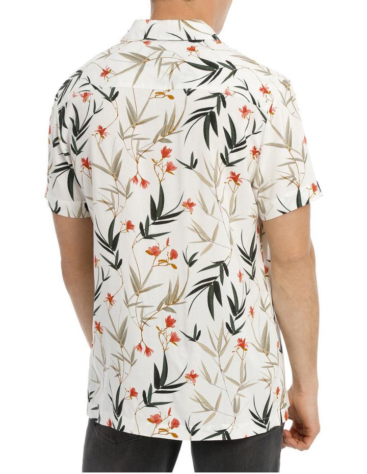 Banks Foliage Print Short Sleeve Relaxed Rayon Shirt image 3