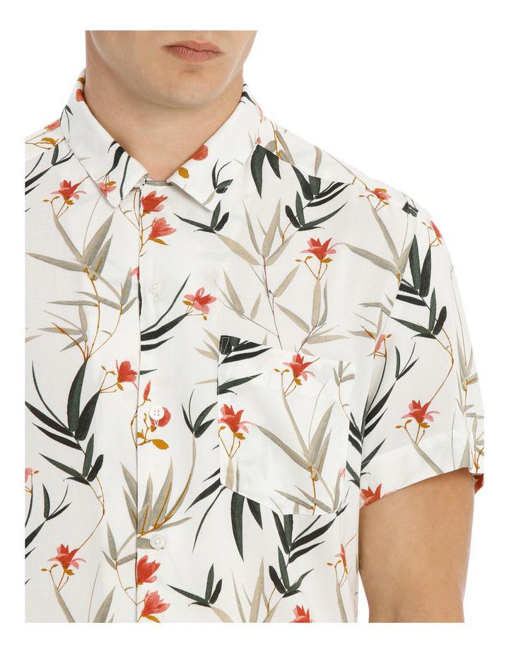 Banks Foliage Print Short Sleeve Relaxed Rayon Shirt image 4