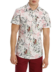 Zen Garden Short Sleeve Print Shirt