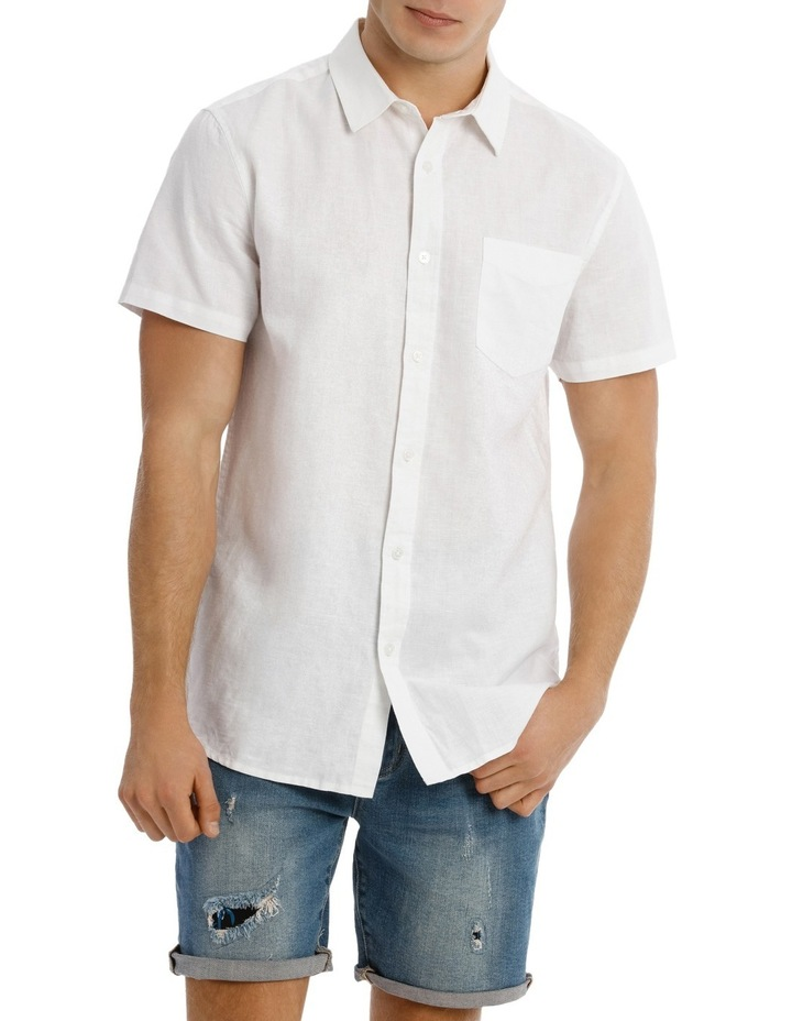 Trent Short Sleeve Linen Blend Shirt image 1