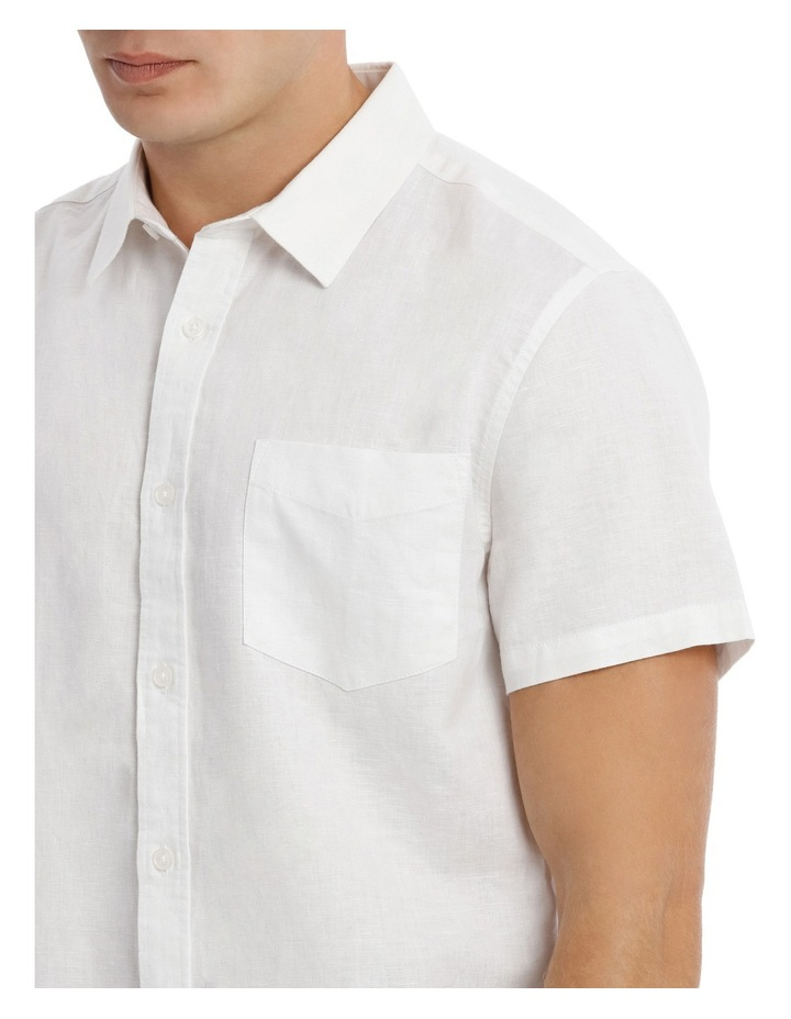 Trent Short Sleeve Linen Blend Shirt image 4