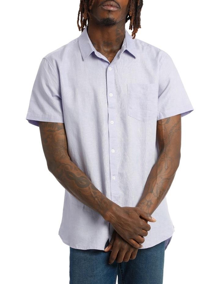 Trent Short Sleeve Linen Blend Shirt image 1