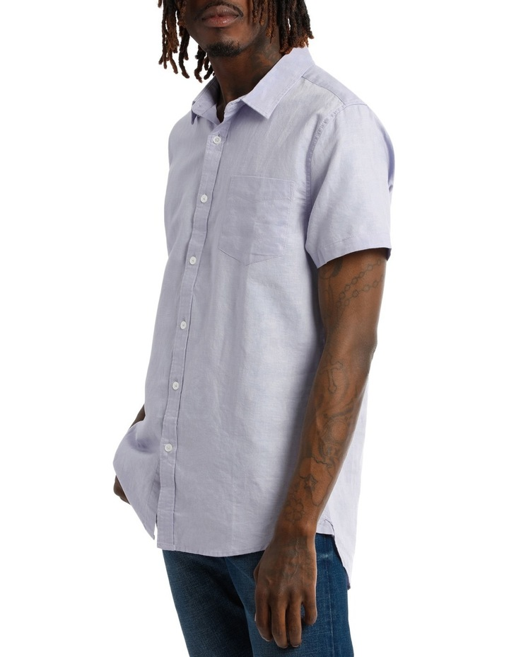 Trent Short Sleeve Linen Blend Shirt image 2
