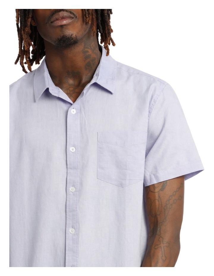 Trent Short Sleeve Linen Blend Shirt image 4