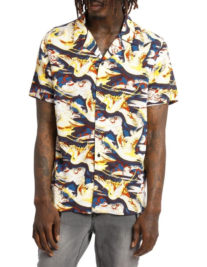 Stolen Crane Shortsleeve Rayon Shirt image 1