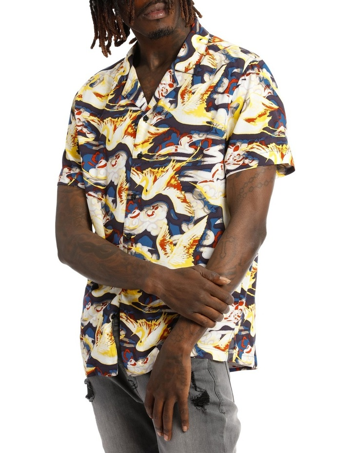 Stolen Crane Shortsleeve Rayon Shirt image 2
