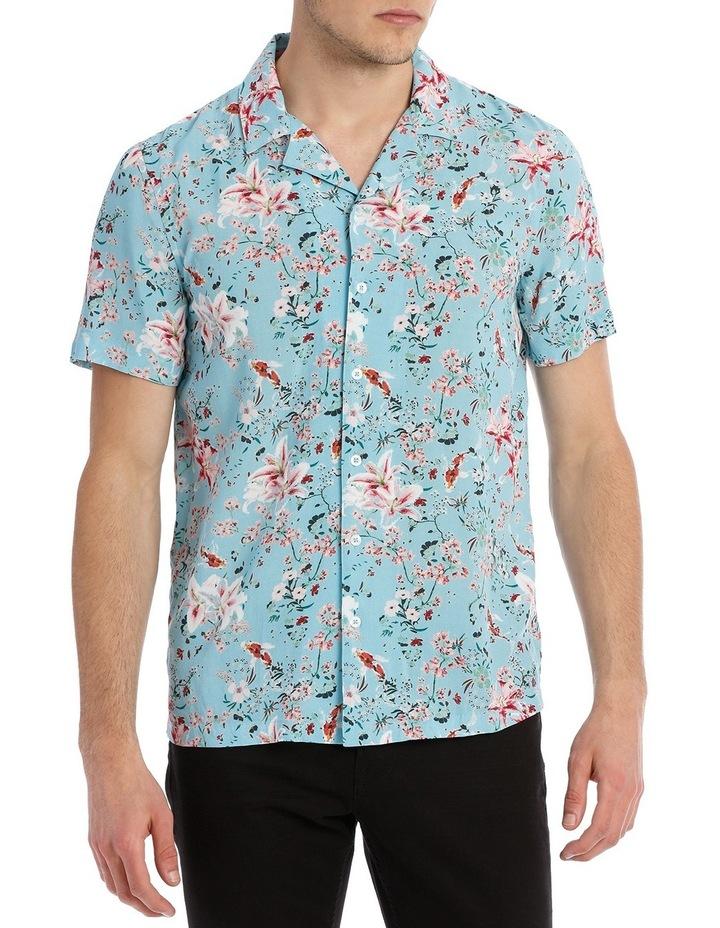 Koi Garden Short Sleeve Rayon Shirt image 1