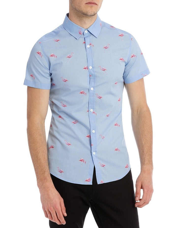 Flamingo Sea Short Sleeve Print Shirt image 1