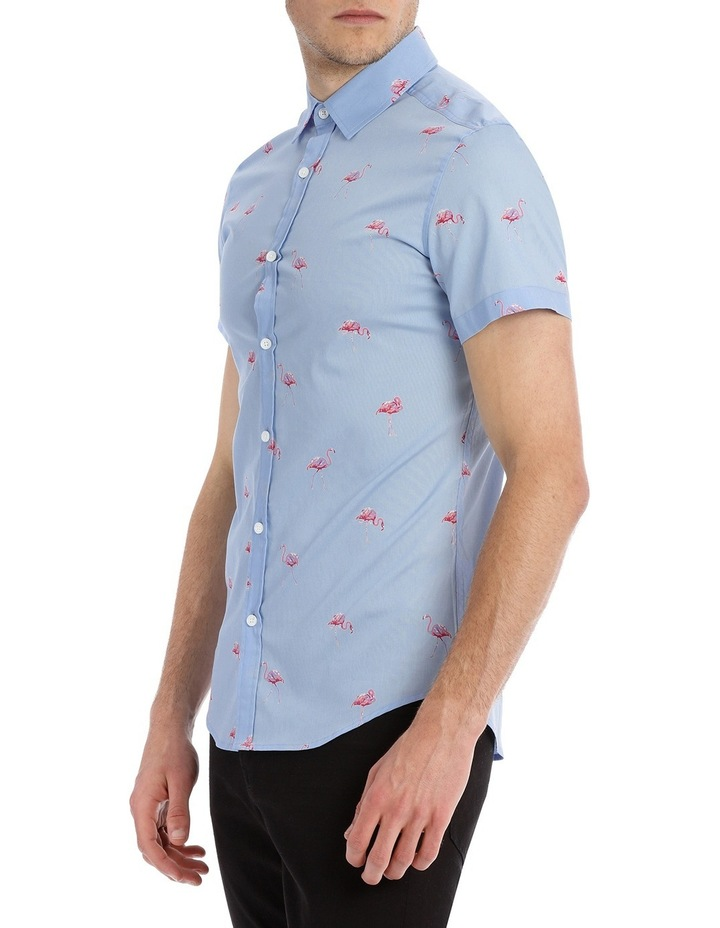 Flamingo Sea Short Sleeve Print Shirt image 2