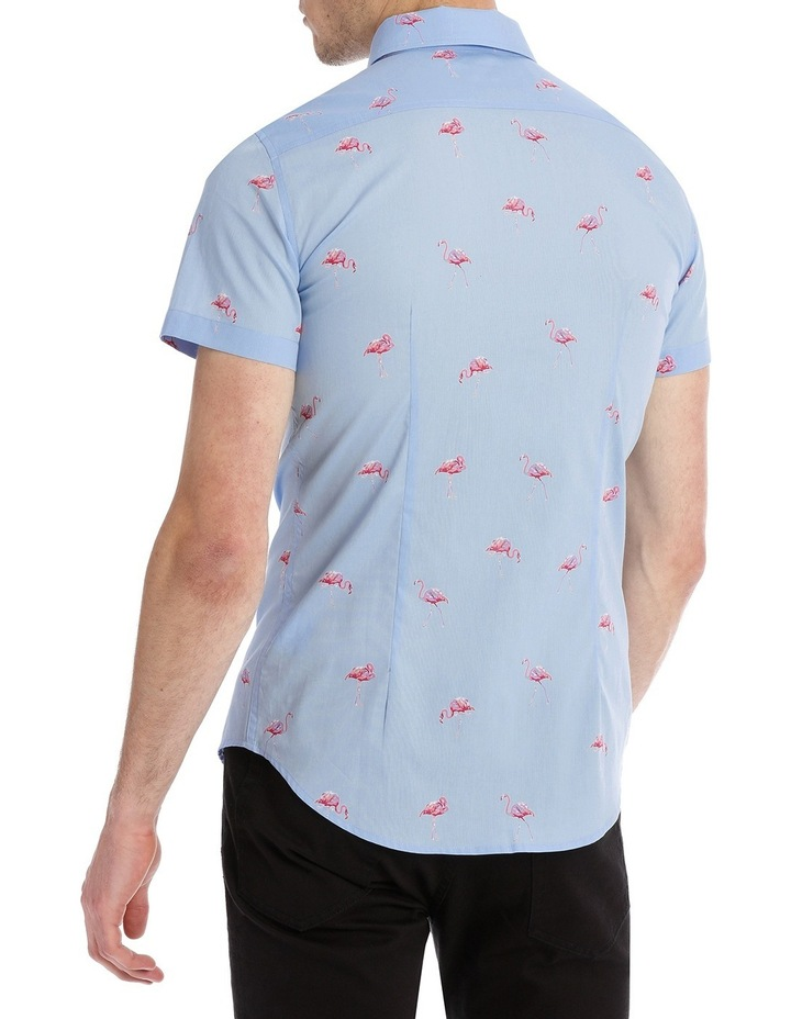 Flamingo Sea Short Sleeve Print Shirt image 3