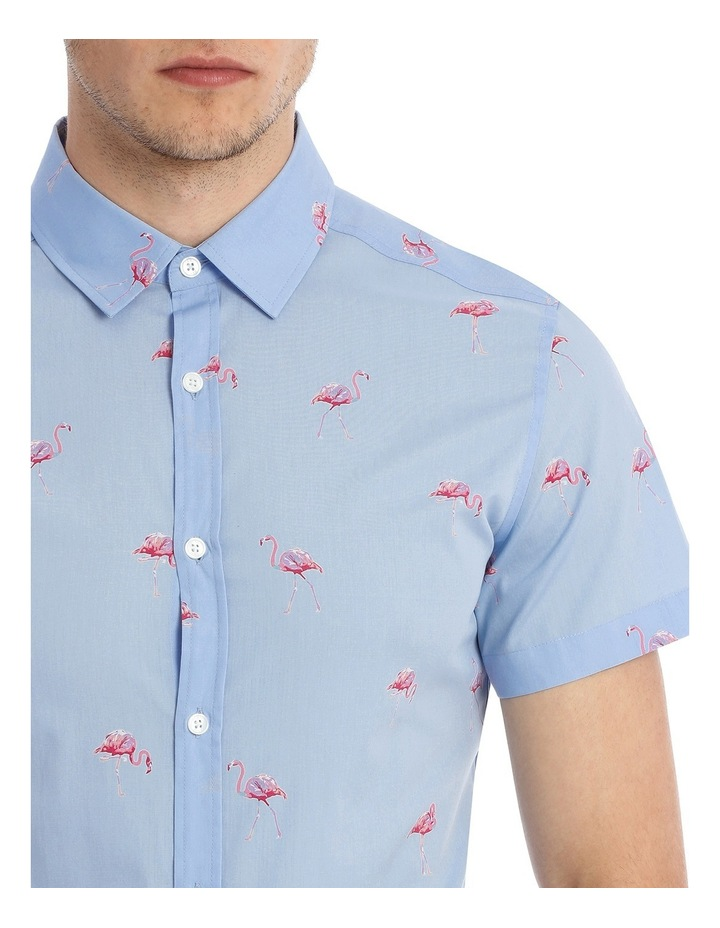 Flamingo Sea Short Sleeve Print Shirt image 4