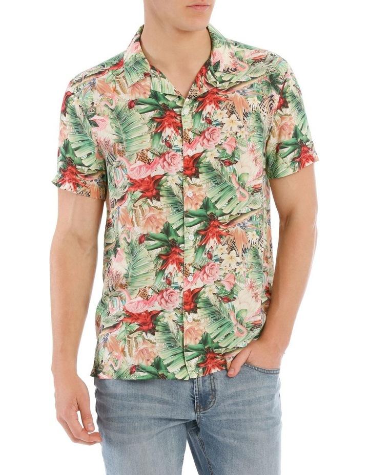 Mangani Short Sleeve Rayon Print Shirt image 1