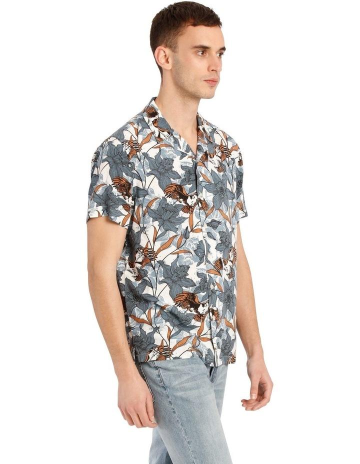 Falcon Short Sleeve Rayon Print Shirt image 2