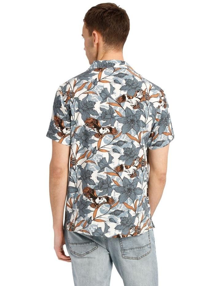 Falcon Short Sleeve Rayon Print Shirt image 3