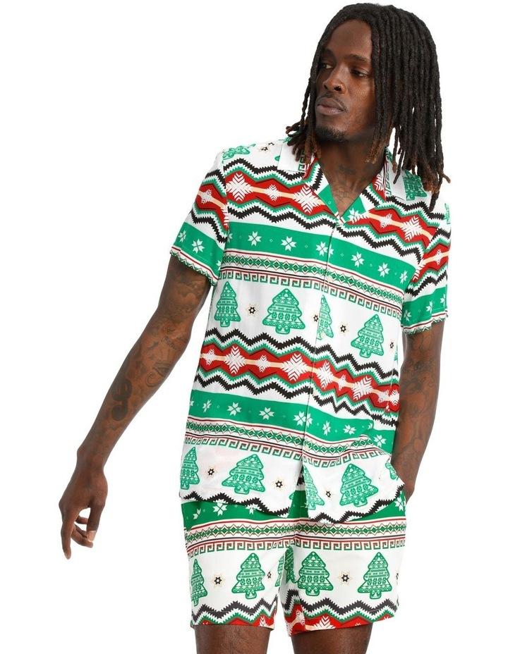 Aztec Xmas Print Rayon Shirt image 1