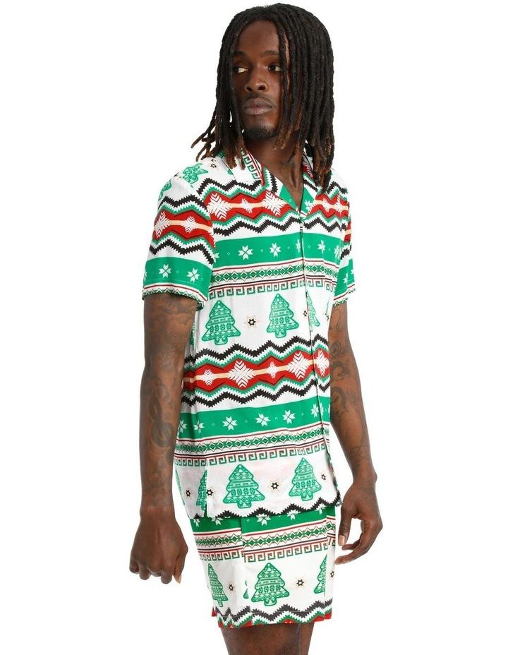 Aztec Xmas Print Rayon Shirt image 2