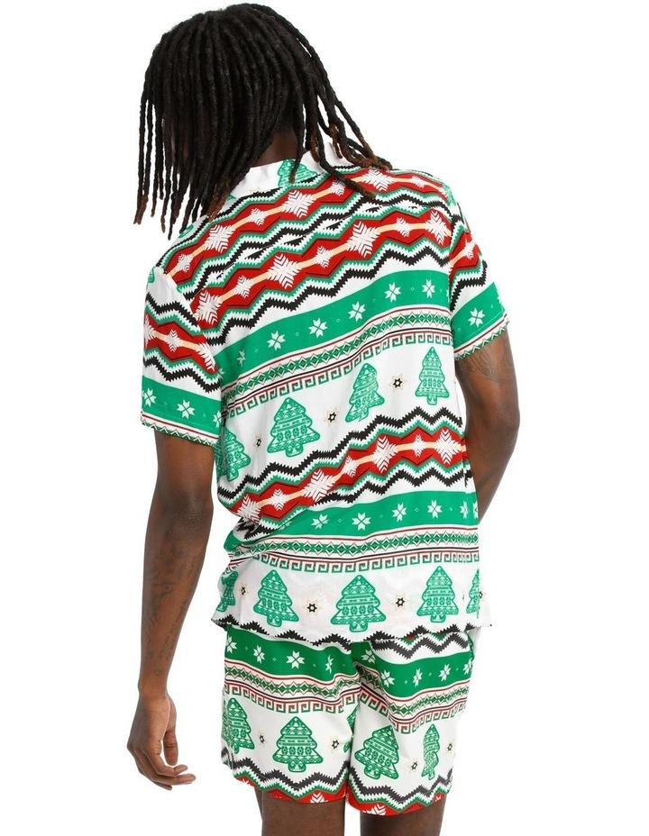 Aztec Xmas Print Rayon Shirt image 3