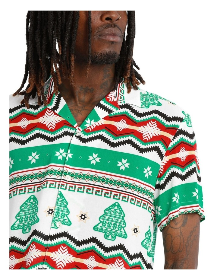 Aztec Xmas Print Rayon Shirt image 4