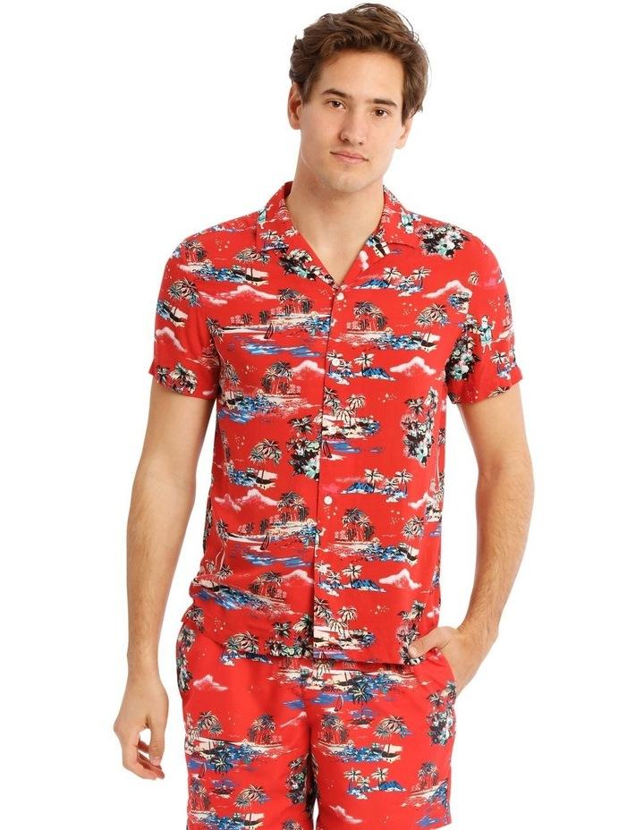 Hawaiian Xmas Print Rayon Shirt image 1