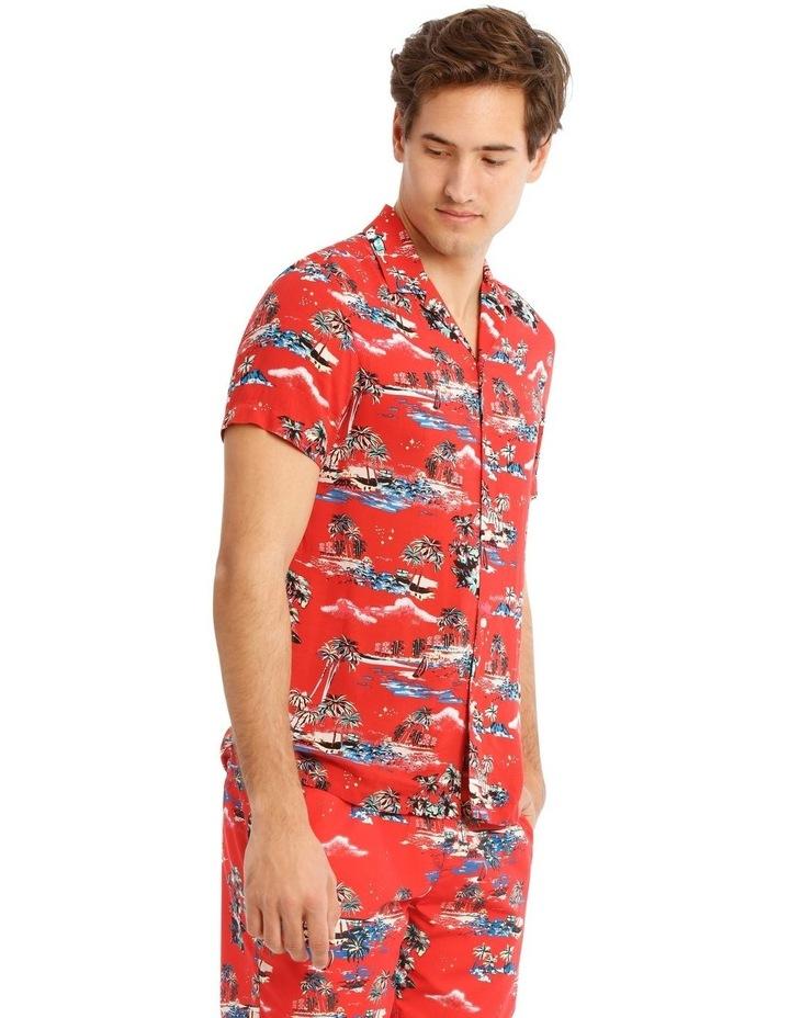 Hawaiian Xmas Print Rayon Shirt image 2