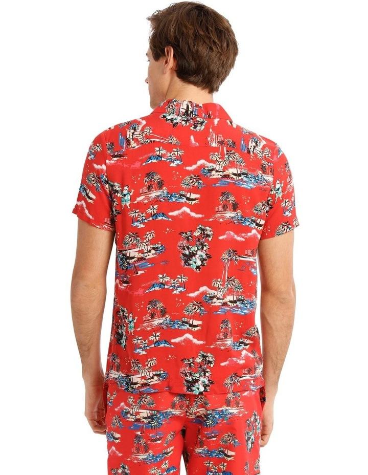 Hawaiian Xmas Print Rayon Shirt image 3