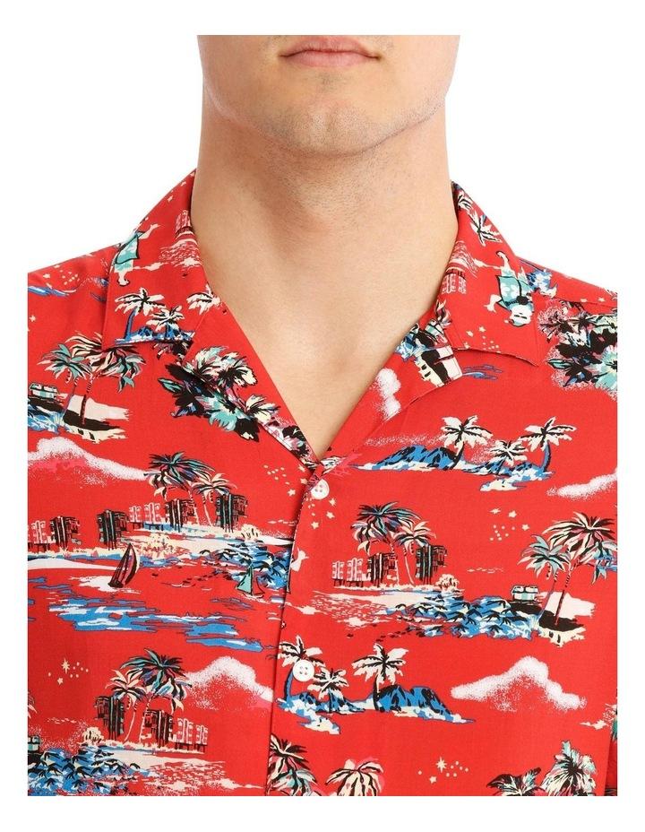 Hawaiian Xmas Print Rayon Shirt image 4