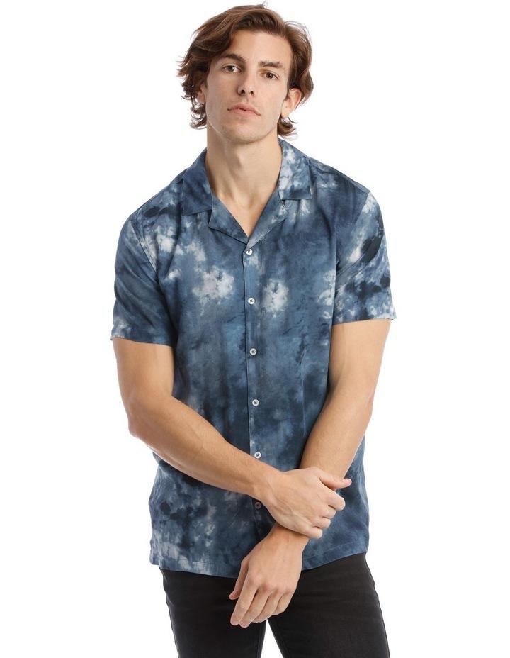 Warped Tie Dye Short Sleeve Rayon Shirt image 1