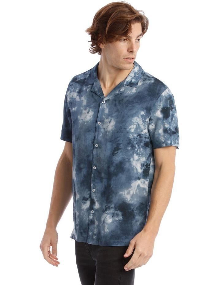 Warped Tie Dye Short Sleeve Rayon Shirt image 2