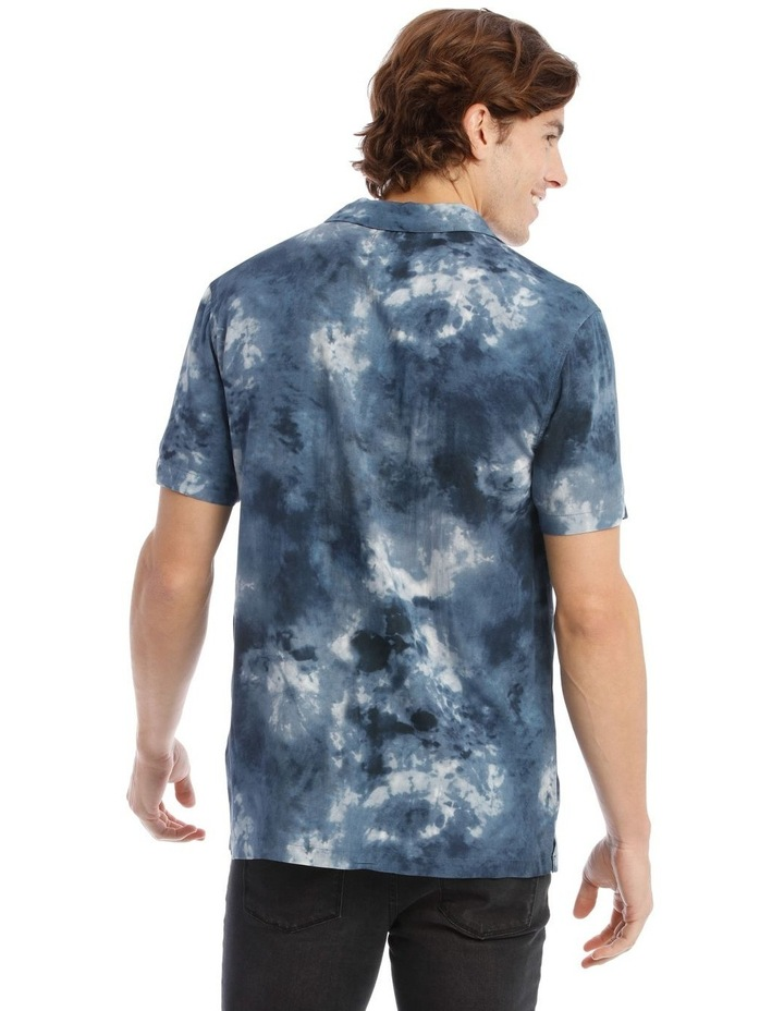 Warped Tie Dye Short Sleeve Rayon Shirt image 3