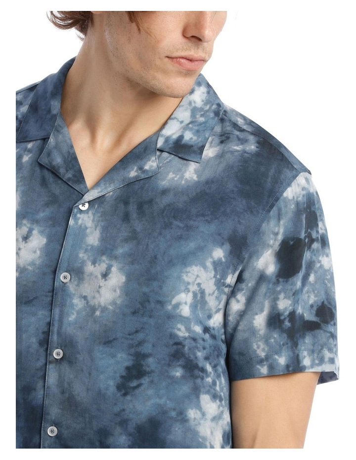 Warped Tie Dye Short Sleeve Rayon Shirt image 4