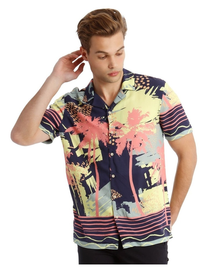 Short Sleeve Sunfest Printed Rayon Shirt image 1
