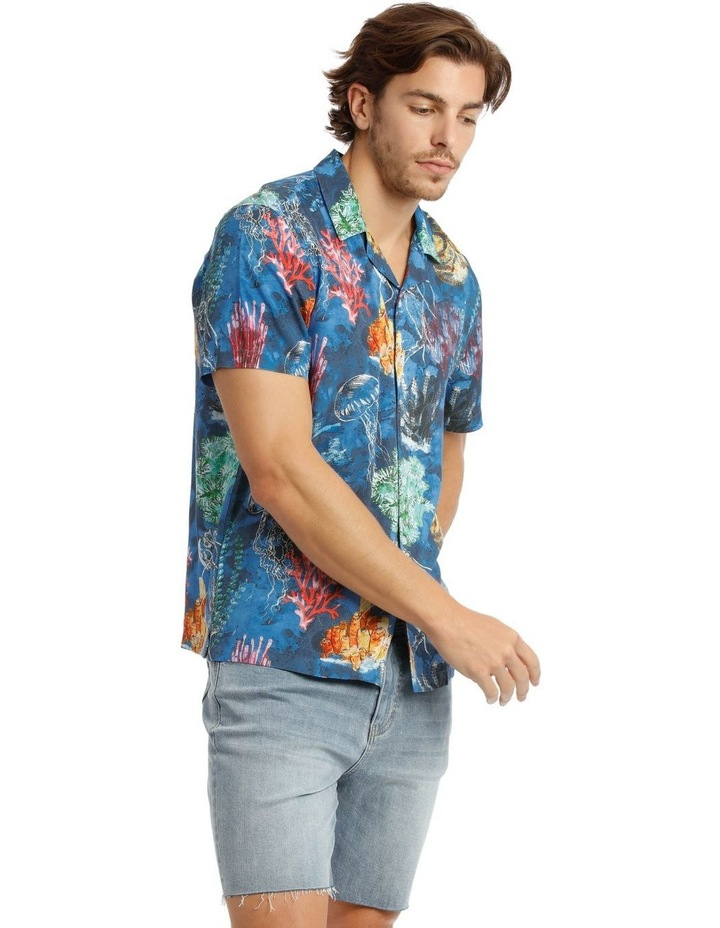 Wireless Print Short Sleeve Rayon Shirt image 2