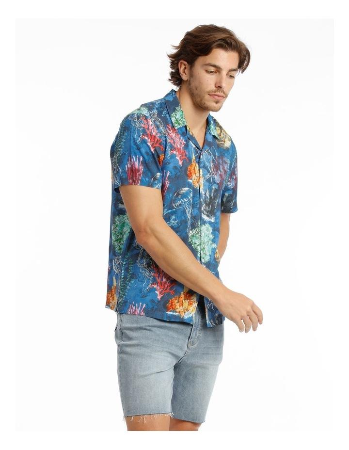 Wireless Print Short Sleeve Rayon Shirt image 2