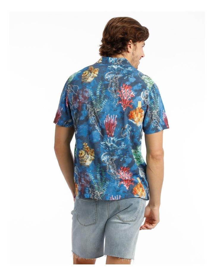Wireless Print Short Sleeve Rayon Shirt image 3