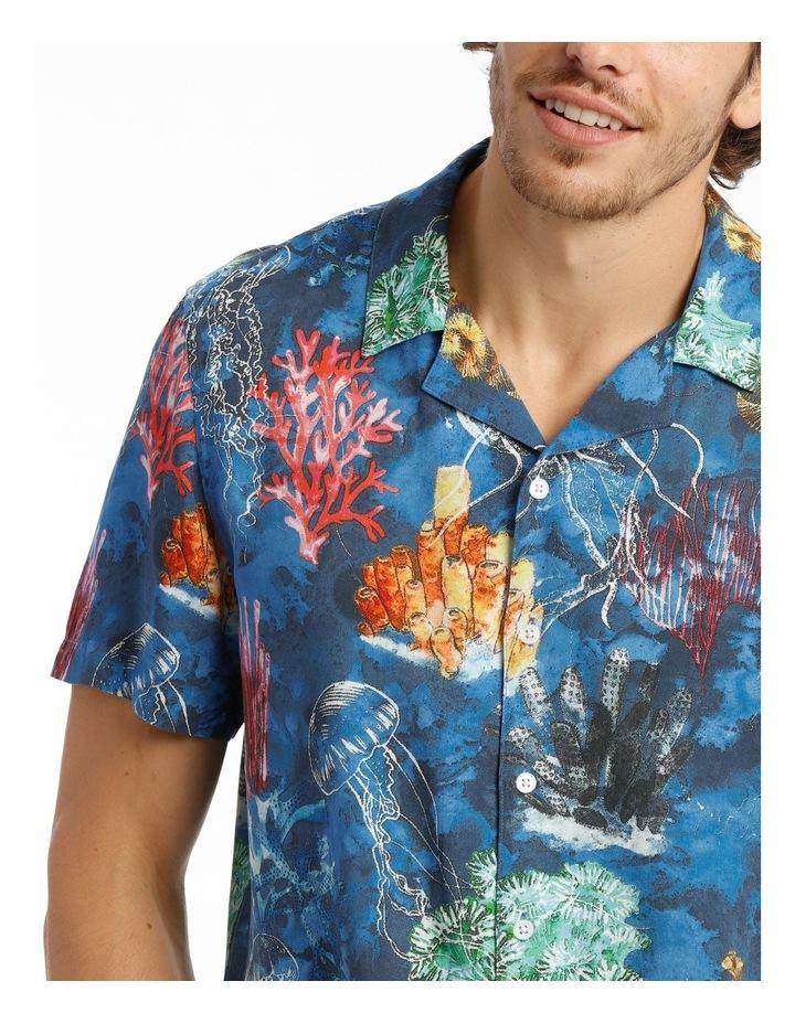 Wireless Print Short Sleeve Rayon Shirt image 4