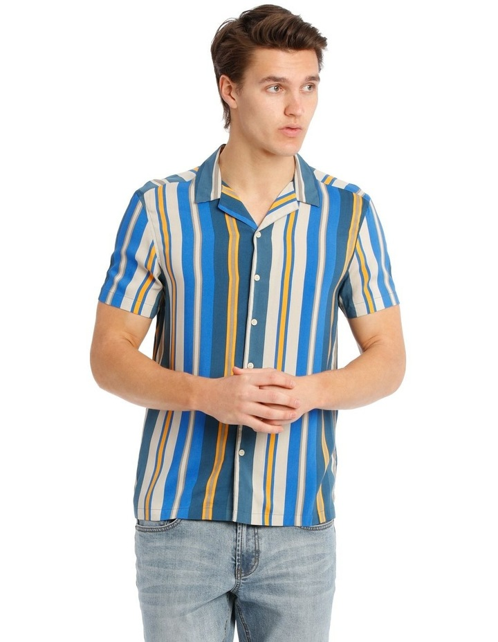 Bluegrass Stripe Short Sleeve Rayon Shirt image 1