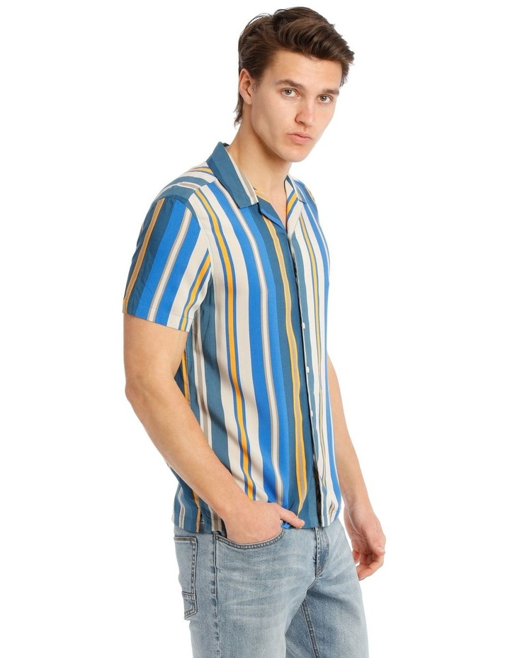 Bluegrass Stripe Short Sleeve Rayon Shirt image 2