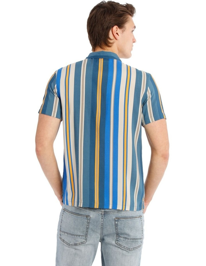 Bluegrass Stripe Short Sleeve Rayon Shirt image 3