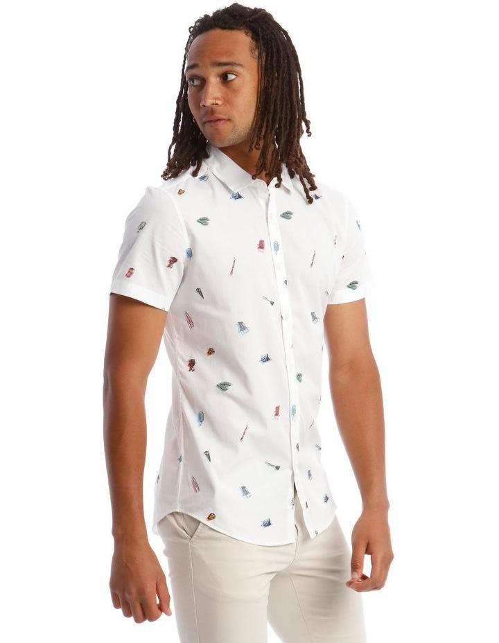 Kenji Wakarusa Convo Print Short Sleeve Shirt image 2