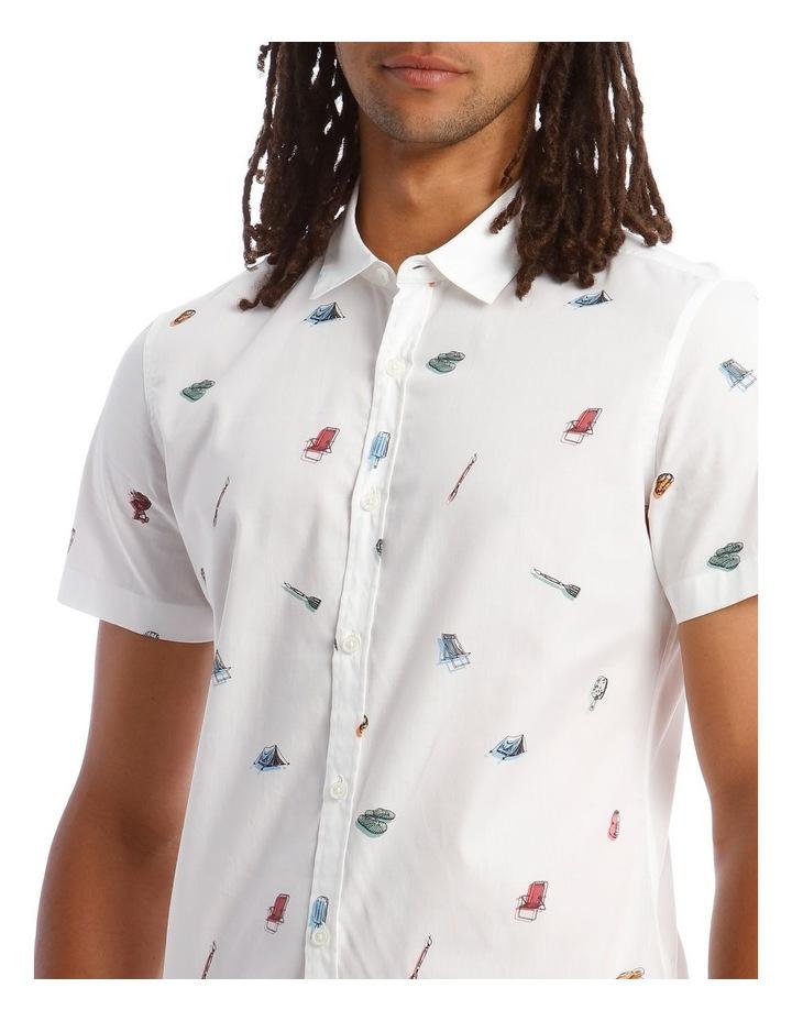 Kenji Wakarusa Convo Print Short Sleeve Shirt image 4